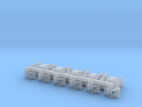 Restaurant Interior Furniture N Scale in Smooth Fine Detail Plastic