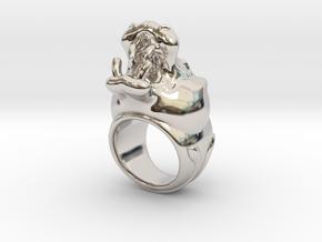 Hippopotamus ring in Platinum