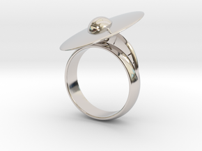 Solar System Rings in Rhodium Plated Brass