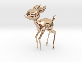 Baby Deer! in 14k Rose Gold Plated Brass