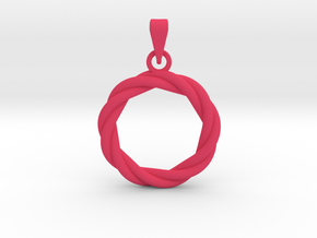 0210 Knot Pendant [3,3] (3cm) #001 in Pink Strong & Flexible Polished