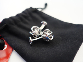 Ora by Bathsheba Cufflinks in Rhodium Plated Brass