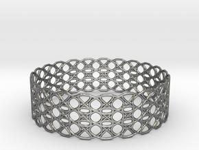 Tennis Seam Curve Bracelet in Fine Detail Polished Silver