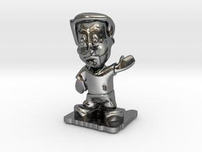 Designer Dan of Steel 2014 in Fine Detail Polished Silver