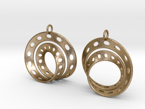 Fantasy-6-EarRings in Polished Gold Steel