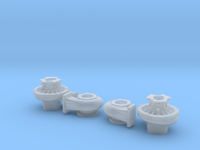 1/18 scale 4 1/2 Inch Right And Left Turbo in Smooth Fine Detail Plastic