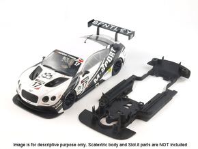 S06-ST2 Scalextric Bentley GT3 ch. STD/STD in White Strong & Flexible