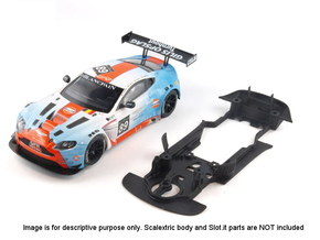 S07-ST1 Chassis for Scalextric Aston GT3 STD/LMP in White Strong & Flexible