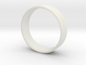 0211 Lissajous Figure Ring (Size5.5, 16.1mm) #016 in White Natural Versatile Plastic
