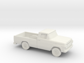 1/87 1959 Ford F-Series Regular Cab in White Natural Versatile Plastic