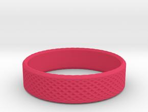 0216 Lissajous Figure Ring (Size8, 18.1mm) #021 in Pink Processed Versatile Plastic
