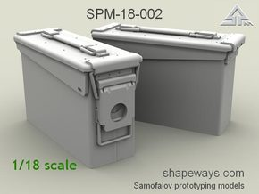 1/18 SPM-18-002 30.cal ammobox in Smoothest Fine Detail Plastic
