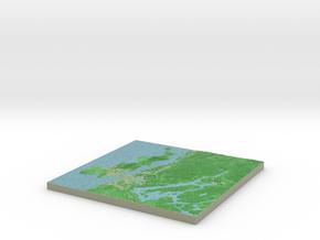 Terrafab generated model Wed Jun 17 2015 11:30:17  in Full Color Sandstone