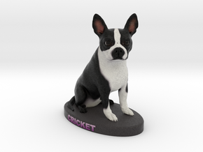 Custom Dog Figurine - Cricket in Full Color Sandstone