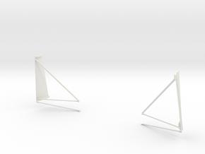 Half Quad 1 & 4 Plume Deflectors-G & H Missions in White Natural Versatile Plastic