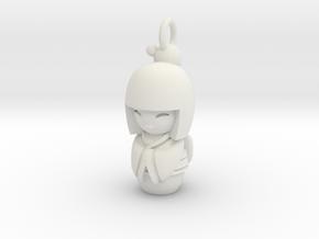 Japanese Doll in White Natural Versatile Plastic