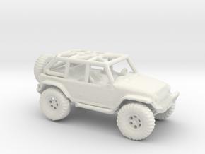 Jeep Rubicon JK 1/100 Scale in White Natural Versatile Plastic