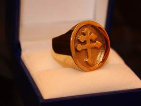 TEAM RING SIZE 19 1/2  in Polished Brass