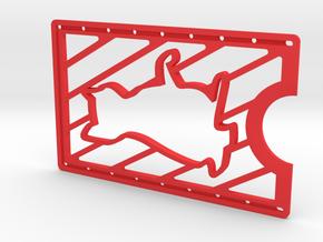 CardWallet Cat Left in Red Processed Versatile Plastic