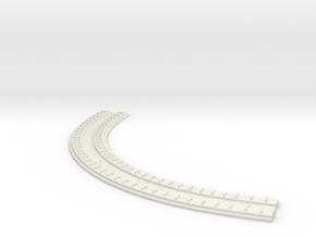 "HO Concrete Direct Fixtation 6"" Rad Track 90 degre in White Natural Versatile Plastic"