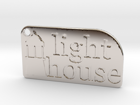 Light House Key Chain in Rhodium Plated Brass
