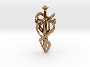 Journey Pendant  in Polished Brass