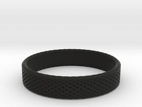 0221 Lissajous Figure Ring (Size12,5, 21.7 mm)#026 in Black Natural Versatile Plastic