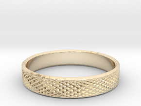 0225 Lissajous Figure Ring (Size14.5, 23.4 mm)#030 in 14k Gold Plated Brass