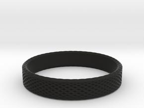 0226 Lissajous Figure Ring (Size15, 23.8 mm) #031 in Black Natural Versatile Plastic