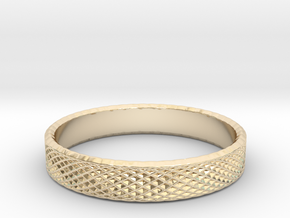 0228 Lissajous Figure Ring (Size16, 24.6 mm) #033 in 14k Gold Plated Brass