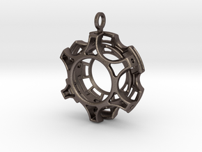 Complex Pendant in Polished Bronzed Silver Steel