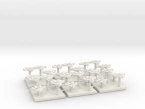 Tau Fighter Markers in White Natural Versatile Plastic