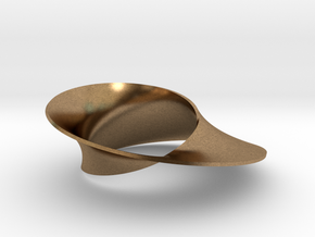 Mobius strip minimal surface in Natural Brass: Small