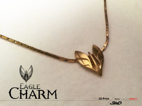 Eagle Charm  in Natural Brass