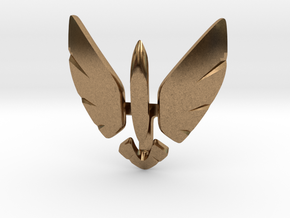 Eagle Jet Moded pendant in Raw Brass