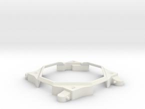 "Eight-player-extension for Game ""LoopingLouie"" in White Natural Versatile Plastic"