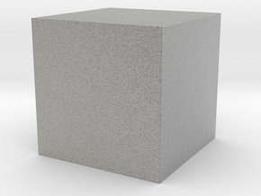 50x50 Solid Cube in Metallic Plastic