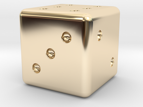 Loaded Weighted Die in 14K Yellow Gold