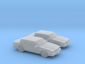 1/160 2X 1993 Chrysler Dynasty in Smooth Fine Detail Plastic