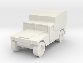 1/144 Humvee M998 tarp canvas high Hummer H1 in White Natural Versatile Plastic