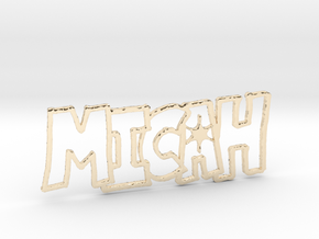 Micah Spark Tag in 14K Gold