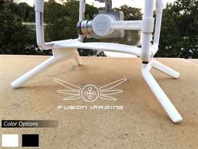 2.4 inch DJI Phantom 2 Gimbal Guard / Leg Extender in White Natural Versatile Plastic