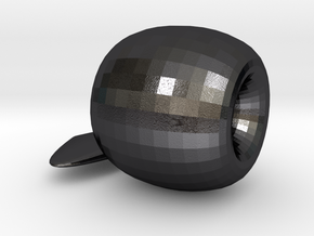Apple Ornament in Polished and Bronzed Black Steel