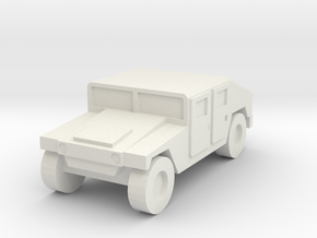 1/160 US Army M1025 Humvee HMMWV Hummer H1 in White Natural Versatile Plastic