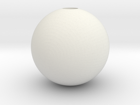 Sphere 1in Hollow in White Strong & Flexible