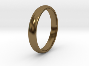 Ring Size 8 smooth in Polished Bronze