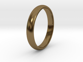 Ring Size 9 smooth in Polished Bronze