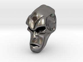 Skull-034 scale in 3cm Passed in Polished Nickel Steel