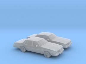 1/160 2X 1980-85 Oldsmobile Delta 88 Sedan in Smooth Fine Detail Plastic