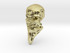 Skull-031 scale in 3cm Passed in 18k Gold Plated Brass